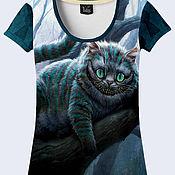 """Одежда ручной работы. Ярмарка Мастеров - ручная работа Женская футболка """"Чеширский кот"""". Handmade."""