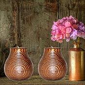 Для дома и интерьера handmade. Livemaster - original item Wooden textured candlesticks made of pine wood-2 pcs. WC20. Handmade.