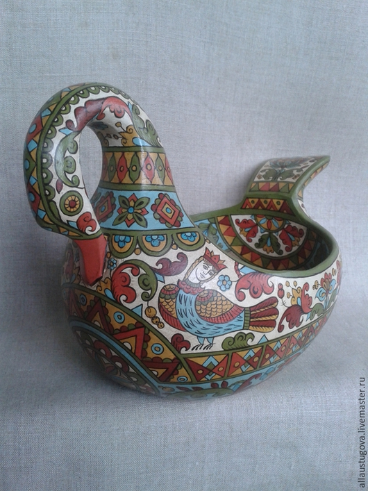 """Посуда ручной работы. Ярмарка Мастеров - ручная работа. Купить Ковш """"Лебедь""""большой. Handmade. Разноцветный, свадьба в русском стиле"""