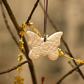 Подарки к праздникам handmade. Livemaster - original item Reserve a Set of ceramic Christmas decorations Exquisite mother-of-pearl. Handmade.