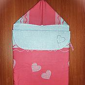 """Работы для детей, ручной работы. Ярмарка Мастеров - ручная работа Конверт для новорожденного """"Сердечный"""". Handmade."""