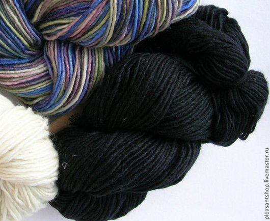 Вязание ручной работы. Ярмарка Мастеров - ручная работа. Купить MANOS Silk Blend DK BLACK. Handmade. Черный, манос