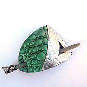 Украшения handmade. Livemaster - original item Barrette Green peas (green, brooch, hair pin shawl). Handmade.