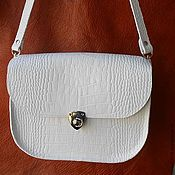 Сумки и аксессуары handmade. Livemaster - original item White handbag, Stylish genuine leather. .. Handmade.