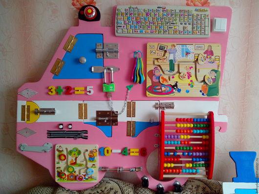 Развивающие игрушки ручной работы. Ярмарка Мастеров - ручная работа. Купить Бизиборд - машинка. Handmade. Комбинированный, развивающая игрушка, развивайка