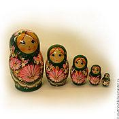 Русский стиль handmade. Livemaster - original item Matryoshka 5 local Floral small 5. Handmade.