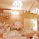 Оформление свадьбы в бело-кремовых тонах с розовым акцентом