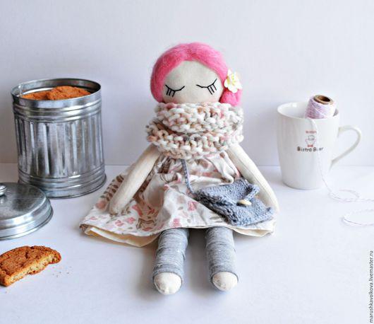 Коллекционные куклы ручной работы. Ярмарка Мастеров - ручная работа. Купить Куколка Мотя. Handmade. Розовый, кукла в подарок