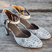 Обувь ручной работы handmade. Livemaster - original item Women`s shoes Python skin . Leather shoes. Handmade.