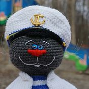 Куклы и игрушки handmade. Livemaster - original item Soft toys: Captain Tilda The Cat. Handmade.