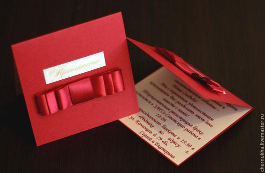 """Пригласительные ручной работы. Ярмарка Мастеров - ручная работа. Купить Приглашение на свадьбу """"Гранат"""". Handmade. Бордовый, приглашения на свадьбу"""