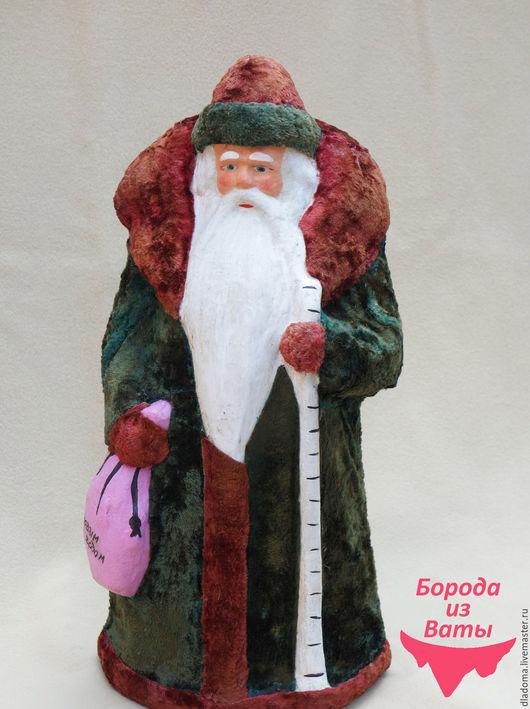Реставрация. Ярмарка Мастеров - ручная работа. Купить Дед Мороз папьемаше. Реставрация. Handmade. Белый, дед мороз из ваты, бумага