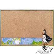 "Картины и панно handmade. Livemaster - original item Cork note Board ""Bird-traveler"". Handmade."