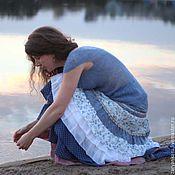 Одежда ручной работы. Ярмарка Мастеров - ручная работа Длинная юбка Вечерняя заря. Handmade.