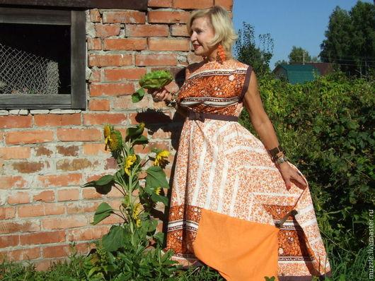 Платья ручной работы. Ярмарка Мастеров - ручная работа. Купить Бабье лето. платье. Handmade. Оранжевый