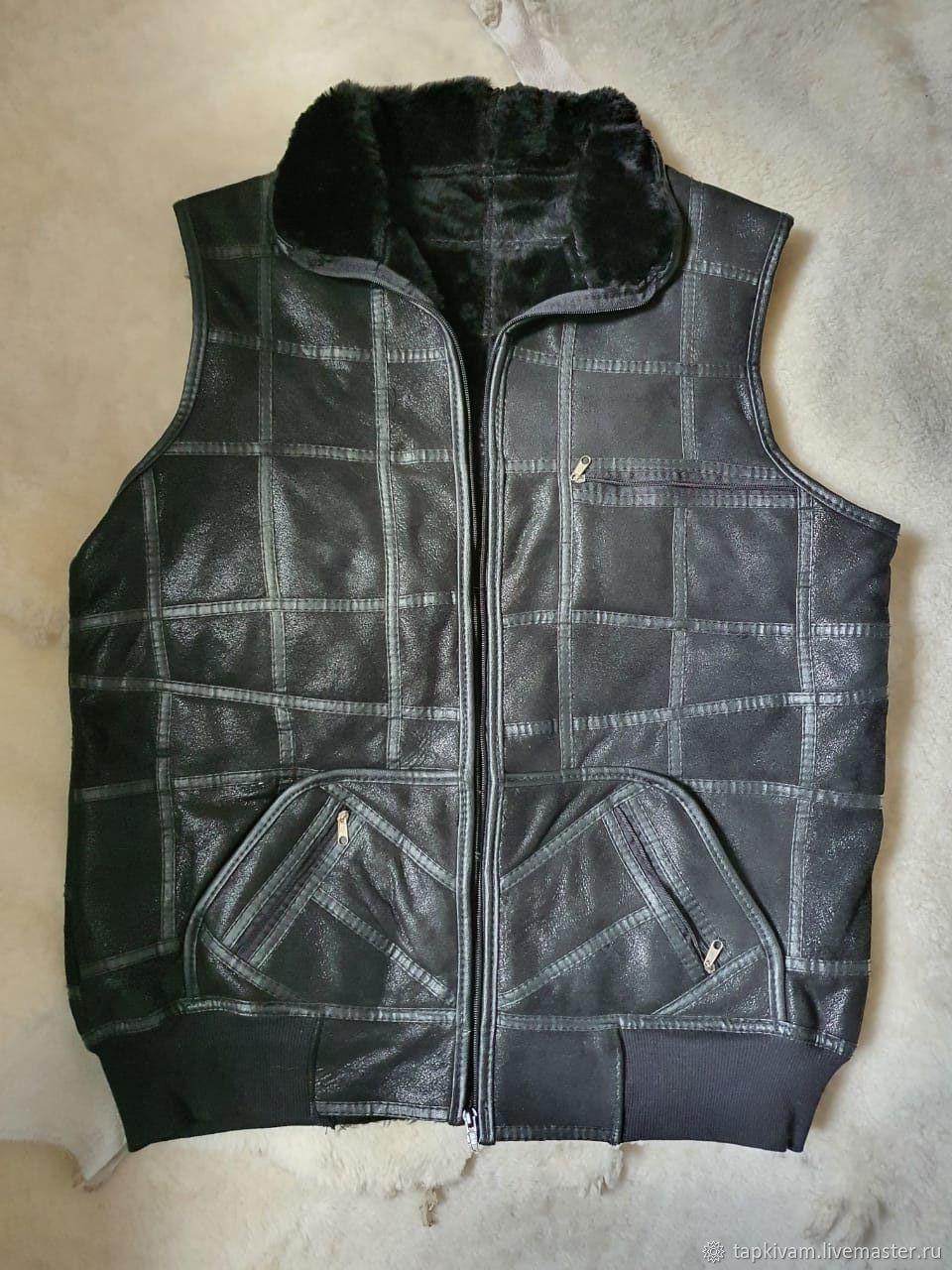 Men's sheepskin vest 52, Mens vests, Moscow,  Фото №1
