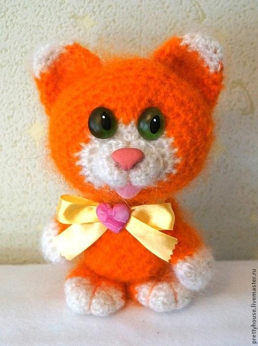 Игрушки животные, ручной работы. Ярмарка Мастеров - ручная работа. Купить Вязаная игрушка котенок Рыжий Рыжик. Handmade. Рыжий