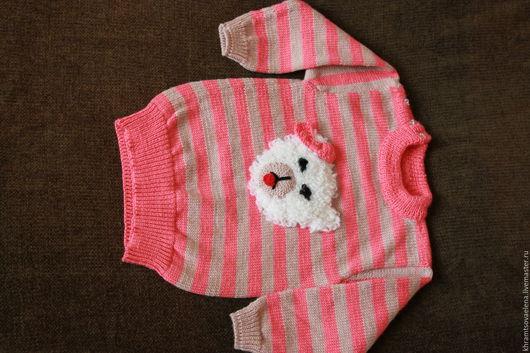Одежда для девочек, ручной работы. Ярмарка Мастеров - ручная работа. Купить Джемпер для девочки. Handmade. Коралловый, джемпер для малыша
