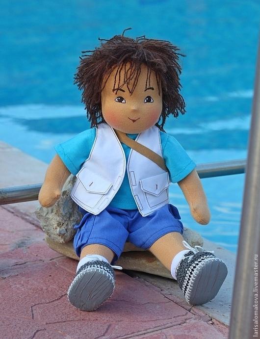 Вальдорфская игрушка ручной работы. Ярмарка Мастеров - ручная работа. Купить текстильная кукла в вальдорфском стиле мальчик Диего, 32см. Handmade.