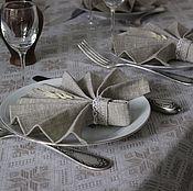 """Для дома и интерьера ручной работы. Ярмарка Мастеров - ручная работа Столовый комплект на 6 персон """"Снежинки"""". Handmade."""