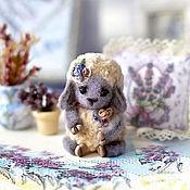 Куклы и игрушки ручной работы. Ярмарка Мастеров - ручная работа Прованс-овечка (3см). Handmade.