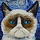 """Юмор ручной работы. Ярмарка Мастеров - ручная работа. Купить Картина """"Кот Ван Гога"""". Handmade. Живопись маслом, котэ"""