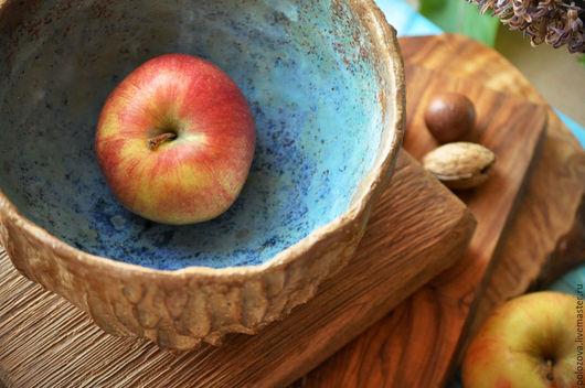 """Салатники ручной работы. Ярмарка Мастеров - ручная работа. Купить Чаша для фруктов  """"Лесной колодец"""". Handmade. Комбинированный, корни, глазури"""