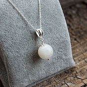 Украшения handmade. Livemaster - original item Silver pendant with moonstone