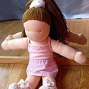 Куклы и игрушки ручной работы. Ярмарка Мастеров - ручная работа Балеринка, текстильная кукла с жестяным чемоданчиком. Handmade.