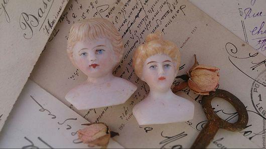 Винтажные куклы и игрушки. Ярмарка Мастеров - ручная работа. Купить Антикварные головки (Германия) №2. Handmade. Бежевый, антикварные куклы