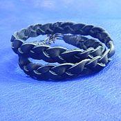 Украшения handmade. Livemaster - original item Braided bracelet winding Black pigtail. Handmade.