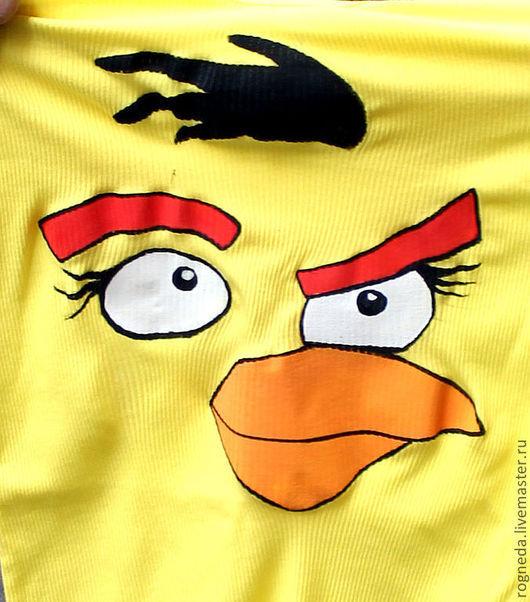 Футболки, майки ручной работы. Ярмарка Мастеров - ручная работа. Купить Майка I am Angry Bird (Я Злая Птичка) (0930). Handmade.