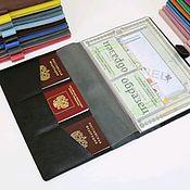 Сумки и аксессуары handmade. Livemaster - original item A4 document organizer black. Handmade.