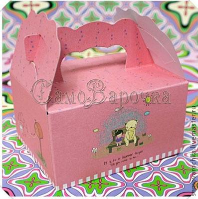 """Другие виды рукоделия ручной работы. Ярмарка Мастеров - ручная работа. Купить Коробка с ручкой """"Розовая"""". Handmade. Упаковка, картон"""