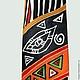 Фрагмент галстука `Африканский`