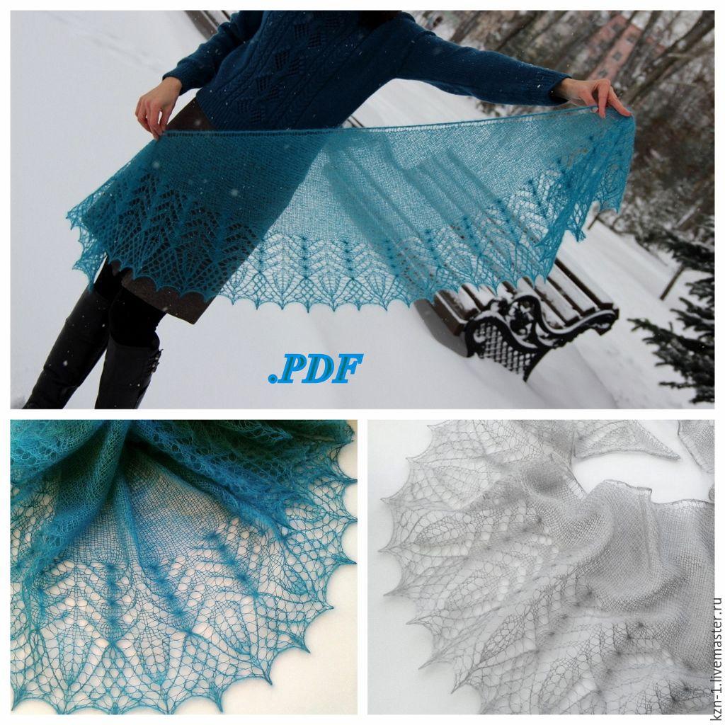 схемы вязания шали фишю