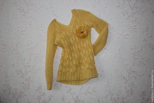 """Кофты и свитера ручной работы. Ярмарка Мастеров - ручная работа. Купить Пуловер """"Солнечный"""". Handmade. Желтый, пуловер женский"""