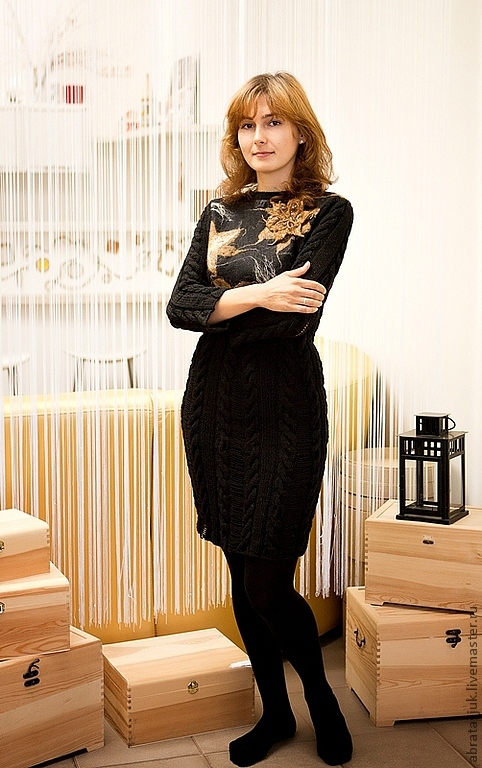 Dress with felted yoke, Dresses, Kiev,  Фото №1