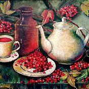 Ароматный чай с калиной масло