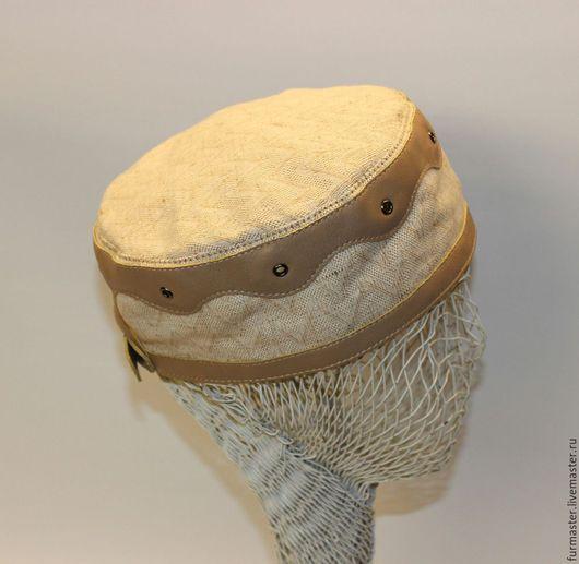 Для мужчин, ручной работы. Ярмарка Мастеров - ручная работа. Купить Летняяя шапочка-таблетка. Handmade. Бежевый, хлопок, мужская