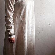 Рубашки ручной работы. Ярмарка Мастеров - ручная работа Рубаха женская нательная льняная долгорукавная с ручной вышивкой. Handmade.