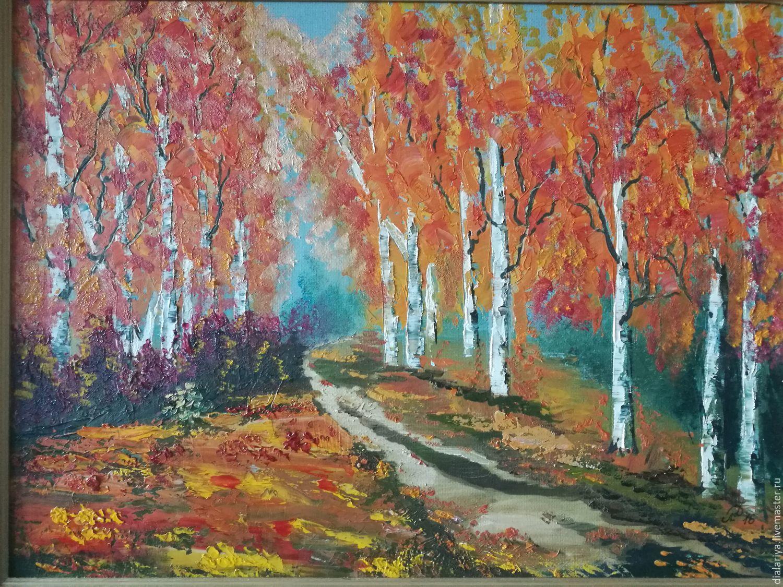 Картина маслом. Пейзаж. Осень, Картины, Москва,  Фото №1