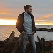 """Одежда ручной работы. Ярмарка Мастеров - ручная работа мужской свитер """"Морской"""". Handmade."""