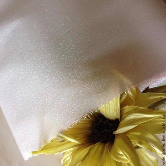 Ткань для цветов ручной работы. Ярмарка Мастеров - ручная работа. Купить Ткань для цветоделия- атлас жемчужный. Handmade. Разноцветный