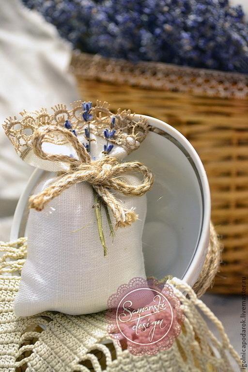 Свадебные аксессуары ручной работы. Ярмарка Мастеров - ручная работа. Купить Саше с лавандой (мини). Handmade. Лаванда, для свадьбы, кружево
