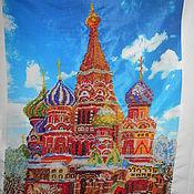 Картины и панно handmade. Livemaster - original item St. Basil`s Cathedral bead embroidery. Handmade.