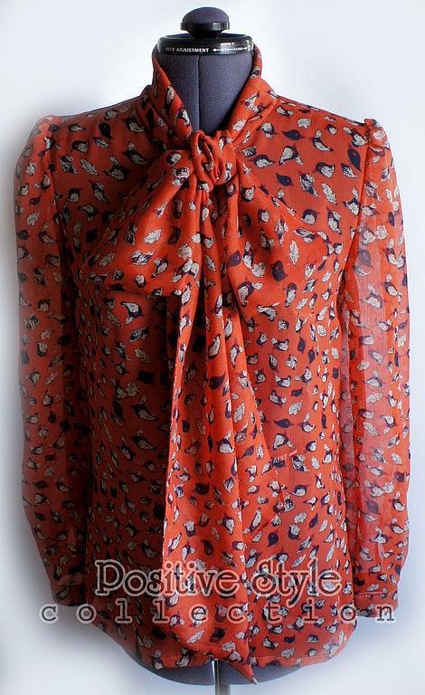 """Блузки ручной работы. Ярмарка Мастеров - ручная работа. Купить Блузка """"Птичка певчая"""". Handmade. Рыжий, блузка женская"""