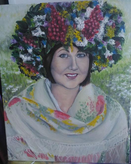 Картины цветов ручной работы. Ярмарка Мастеров - ручная работа. Купить Портрет маслом на холсте. Handmade. Комбинированный, портрет по фото