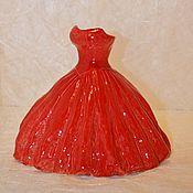 Вазы ручной работы. Ярмарка Мастеров - ручная работа Ваза Красное платье. Handmade.
