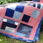 Для дома и интерьера ручной работы. Ярмарка Мастеров - ручная работа Джинсовое покрывало. Handmade.